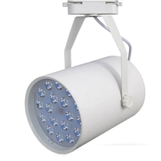 Пример трекового линзового светодиодного светильника на однофазную шину в белом корпусе
