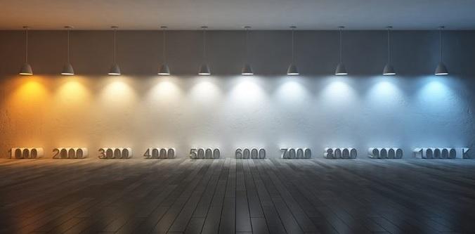 Как будут светить светодиодные светильники с различной температурой свечения, пример освещения