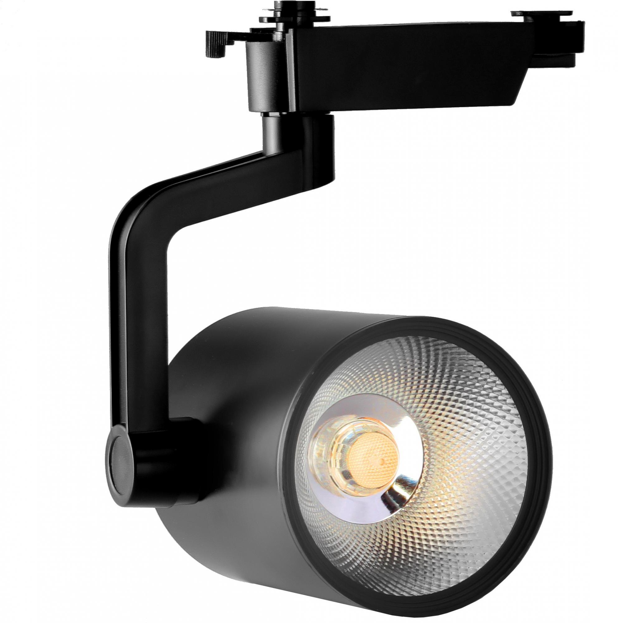 Пример современного трекового светильника со светодиодом COB, покрытым защитным силиконовым модулем
