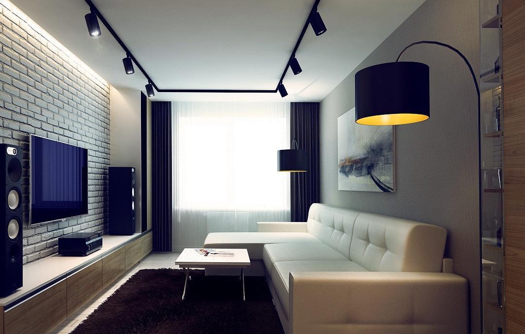 Трековые светильники в гостиной фото