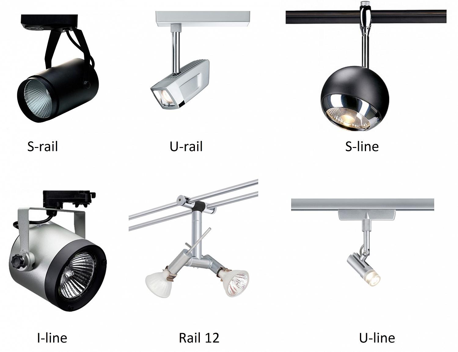 Трековые светильники направленного освещения
